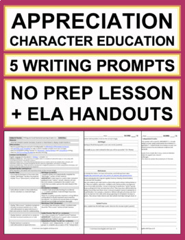 GRATITUDE Activities: 5 Appreciation Writing Prompts