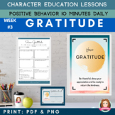 GRATITUDE - Positive Behavior | Daily Character Education