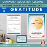 GRATITUDE   Google Slides   Positive Behavior   Daily Char