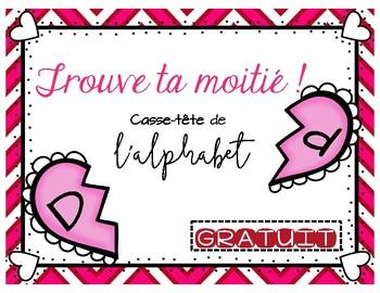 Gratuit Trouve Ta Moitié L Alphabet Valentine S Alphabet Free