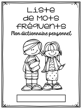 GRATUITÉ: Mon dictionnaire personnel / French Personal Dictionary FREEBIE