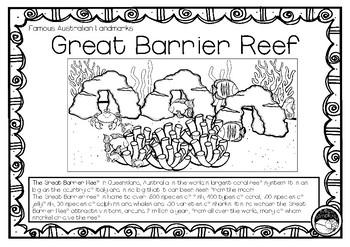 GREAT BARRIER REEF (an Australian landmark) 1 pg informati