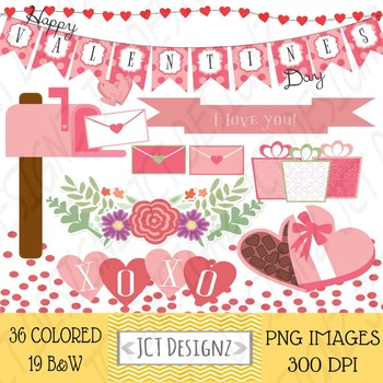 GREAT DEAL! Valentines Day Clipart, Valentines Clip Art, February Clipart