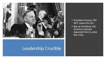 GREAT DEPRESSION - Hoover's Response Fails PowerPoint