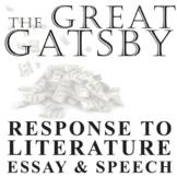 THE GREAT GATSBY Essay Prompts & Grading Rubrics