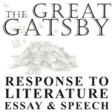 THE GREAT GATSBY Essay Prompts & Grading Rubrics