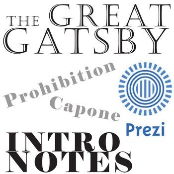 THE GREAT GATSBY Intro Notes Prezi - Prohibition Era