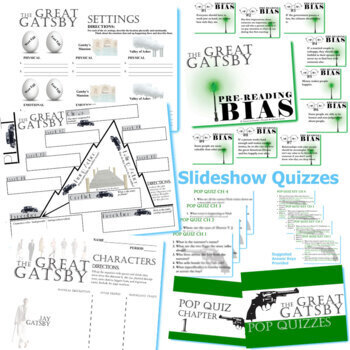 THE GREAT GATSBY Unit Plan - Novel Study Bundle (Fitzgerald) - Literature Guide