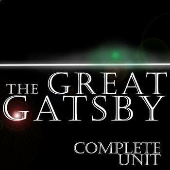 THE GREAT GATSBY Unit Novel Study (F. Scott Fitzgerald) -