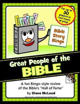 GREAT PEOPLE OF THE BIBLE - Bible Story Bingo Game