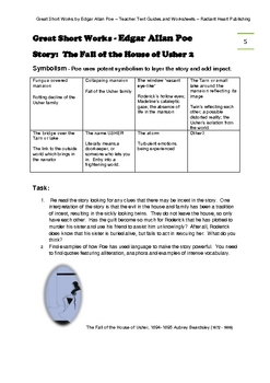 GREAT SHORT WORKS OF EDGAR ALLAN POE - WORKSHEETS