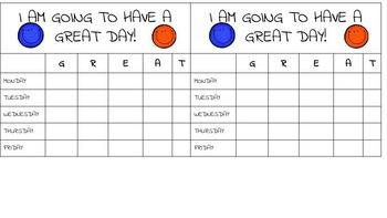 GREAT day Behavior Chart