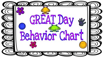 GREAT day Behavior Chart