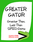 GREATER GATOR:  A Game of Greater Than, Less Than, Equal - 4 Levels of Play