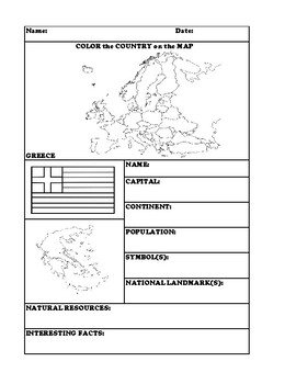 GREECE COUNTRY RESEARCH WORKSHEET