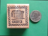 GREECE Country/Passport Rubber Stamp