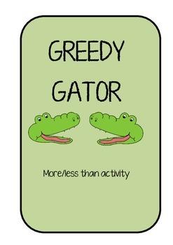 GREEDY GATOR - A more than/less than GAME