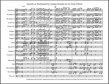 GREEDY by ARIANA GRANDE Marching Band Arrangement