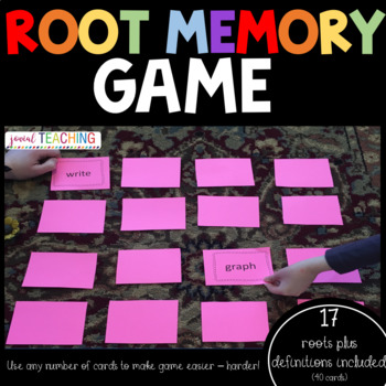 GREEK & LATIN ROOTS ACTIVITY FOR 4TH OR 5TH GRADE-MEMORY MATCHING GAME  RF 4.3a