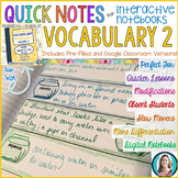 GREEK AND LATIN ROOTS Quick Notes® 2 (Anchor Charts for Interactive Notebooks)
