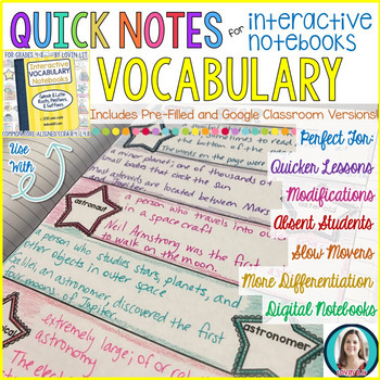 GREEK AND LATIN ROOTS Quick Notes® for Interactive Notebooks