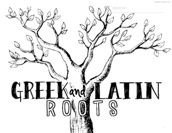 GREEK AND LATIN ROOTS STUDENT POSTER CREATIVE AND FUN!
