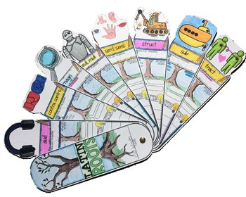 GREEK AND LATIN ROOTS VOCABULARY, INTERACTIVE SKETCH NOTES ACTIVITIES, AND FANS