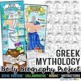 GREEK GODS, GREEK MYTHOLOGY BODY BIOGRAPHY PROJECT BUNDLE