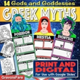 GREEK MYTHS ACTIVITIES: Greek Gods and Goddesses — 14 Mix-and-Match Banners