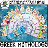 GREEK MYTHOLOGY ACTIVITY, GREEK GODS, FACTS FILL IN, INTERACTIVE FAN