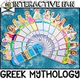 GREEK MYTHOLOGY ACTIVITY, GREEK GODS, FACTS FILL IN, INTERACTIVE FAN