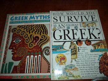 GREEK MYTHS      GREEK   SURVIVE  (SET OF 2)