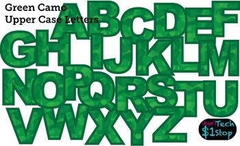 GREEN CAMO * Upper Case Letters * Bulletin Board * Memorial