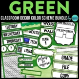 GREEN CHEVRON Classroom Decor EDITABLE