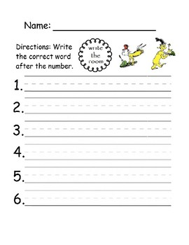 GREEN EGGS AND HAM WRITE THE ROOM, Dr. Seuss, Read Across America