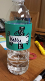 GREEN H2O ID® Reusable Colorful Water Bottle Bands, Labels