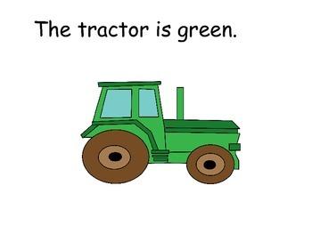 GREEN Interactive Color Sight Word Reader; Kindergarten; Special Education;
