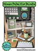 GREEN Classroom Decor POLKA DOTS, EDITABLE