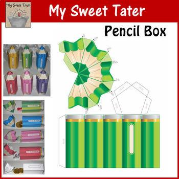 GREEN Pencil Box Printable