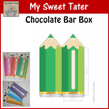 GREEN Pencil Candy Bar Envelope
