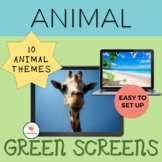 GREEN SCREEN Activity Animal Bundle: Distance Learning