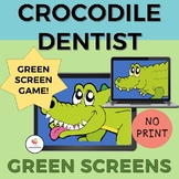 GREEN SCREEN Crocodile Dentist Game for Distance Learning