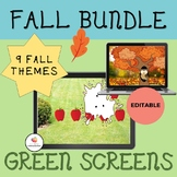 GREEN SCREEN Activity:  Editable Fall Bundle-NO PRINT Dist