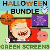 GREEN SCREEN Halloween Bundle- Editable NO PRINT