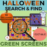 GREEN SCREEN Halloween Search & Find/Editable/Distance Lea