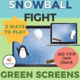 GREEN SCREEN Snowball Fight Game/Winter