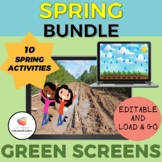 GREEN SCREEN Spring Bundle/NO PRINT Distance Learning