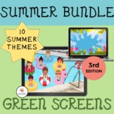 GREEN SCREEN Activity Summer Bundle: 3rd Edition Distance