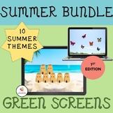 GREEN SCREEN Activity Summer Bundle: Distance Learning