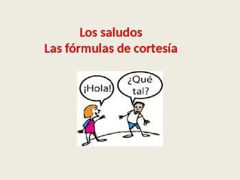 LOS SALUDOS